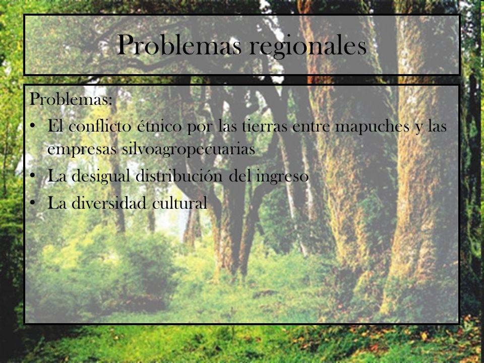 Problemas regionales Problemas: