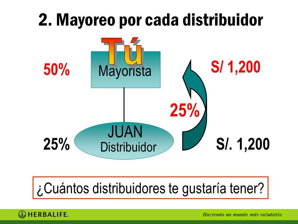2. Mayoreo por cada distribuidor