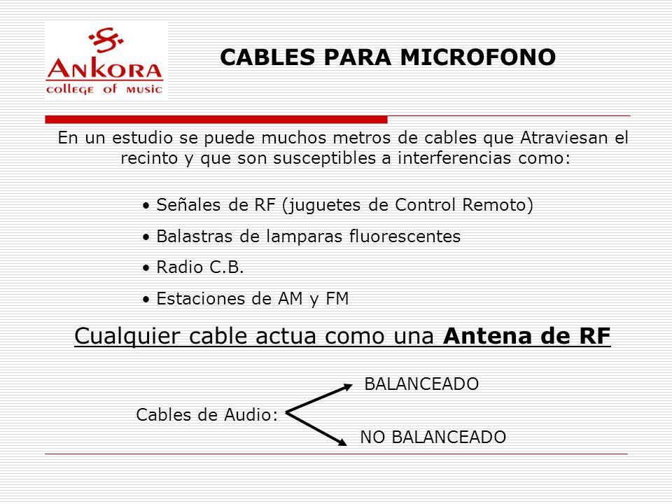 Cualquier cable actua como una Antena de RF