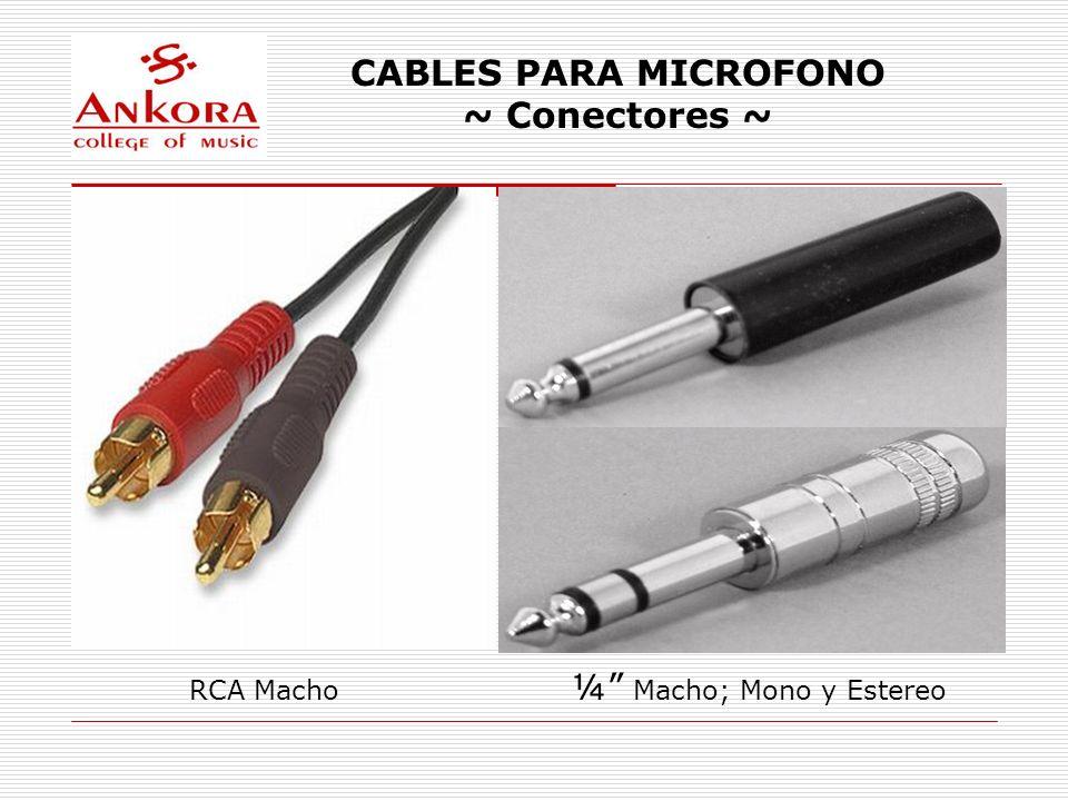 CABLES PARA MICROFONO ~ Conectores ~