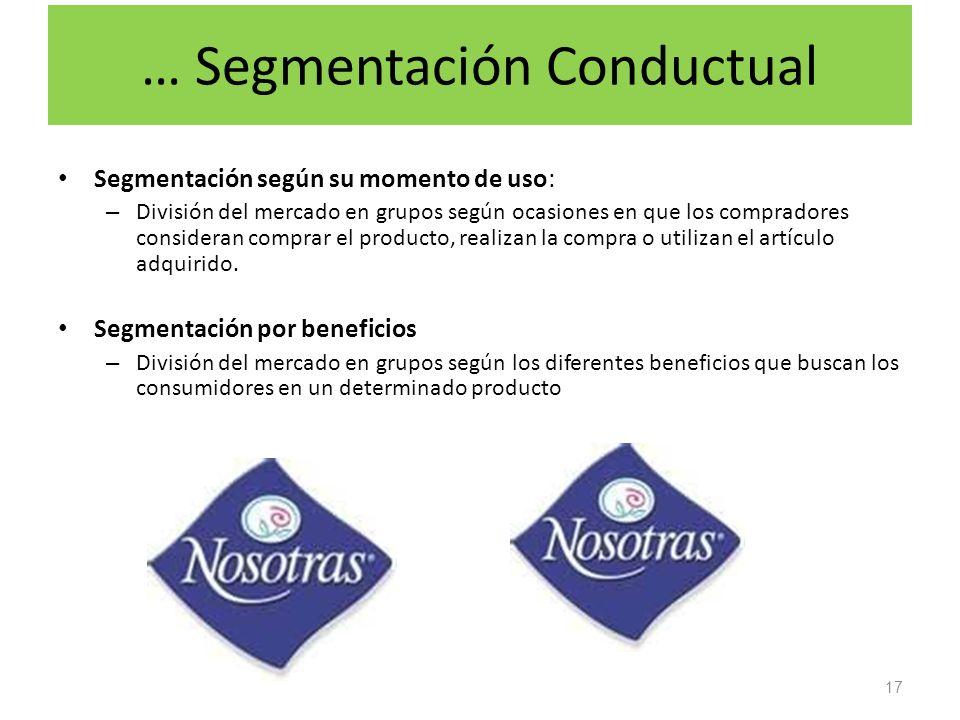 … Segmentación Conductual