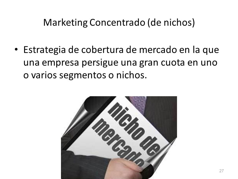 Marketing Concentrado (de nichos)