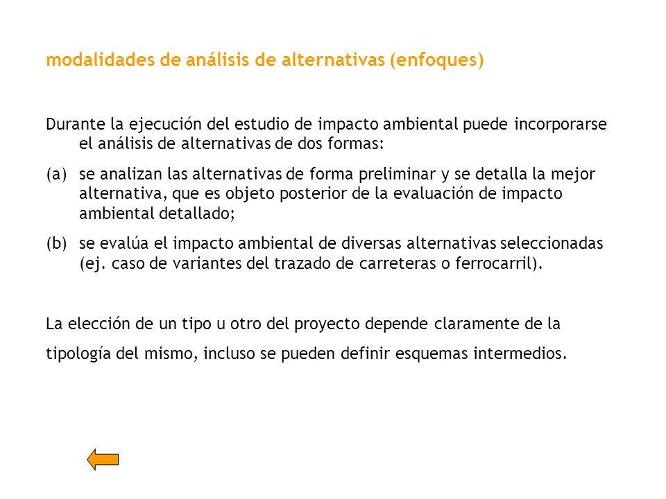 modalidades de análisis de alternativas (enfoques)
