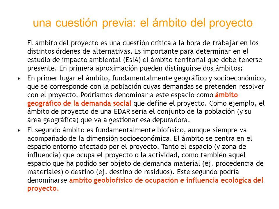 una cuestión previa: el ámbito del proyecto