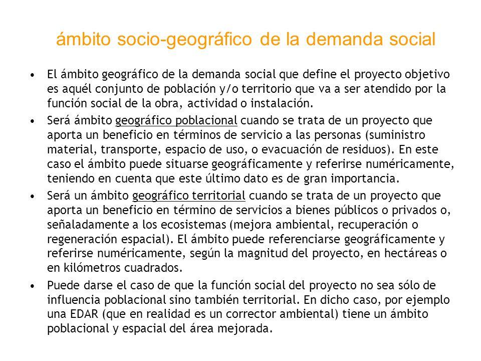ámbito socio-geográfico de la demanda social