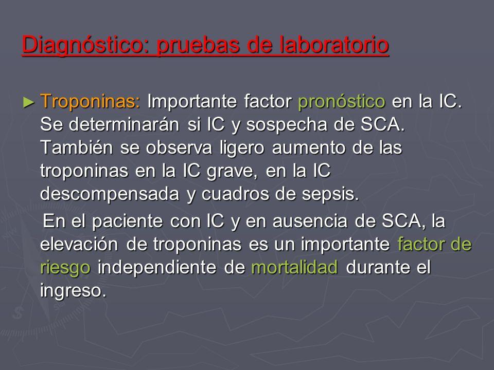 Diagnóstico: pruebas de laboratorio