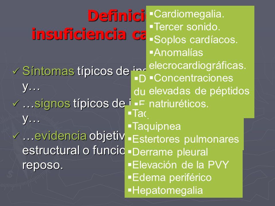 Definición de insuficiencia cardiaca (SCE)
