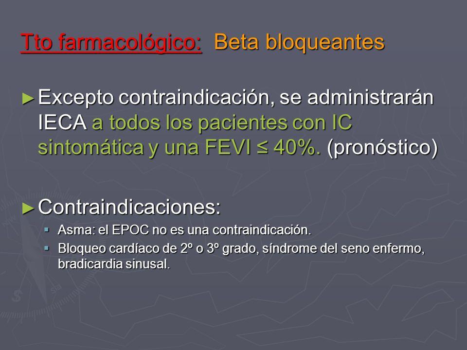 Tto farmacológico: Beta bloqueantes
