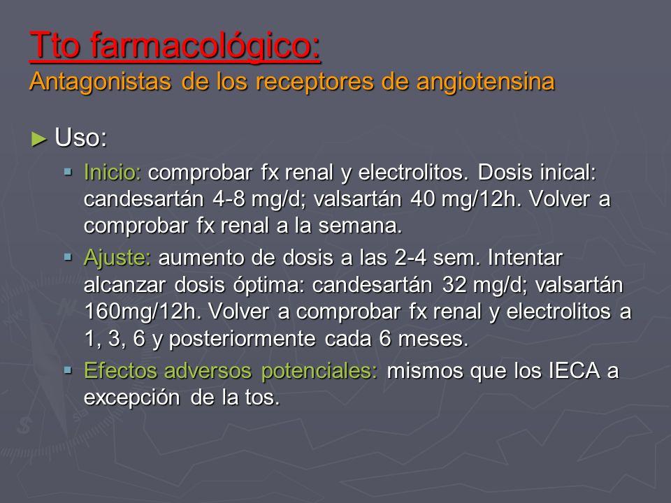 Tto farmacológico: Antagonistas de los receptores de angiotensina