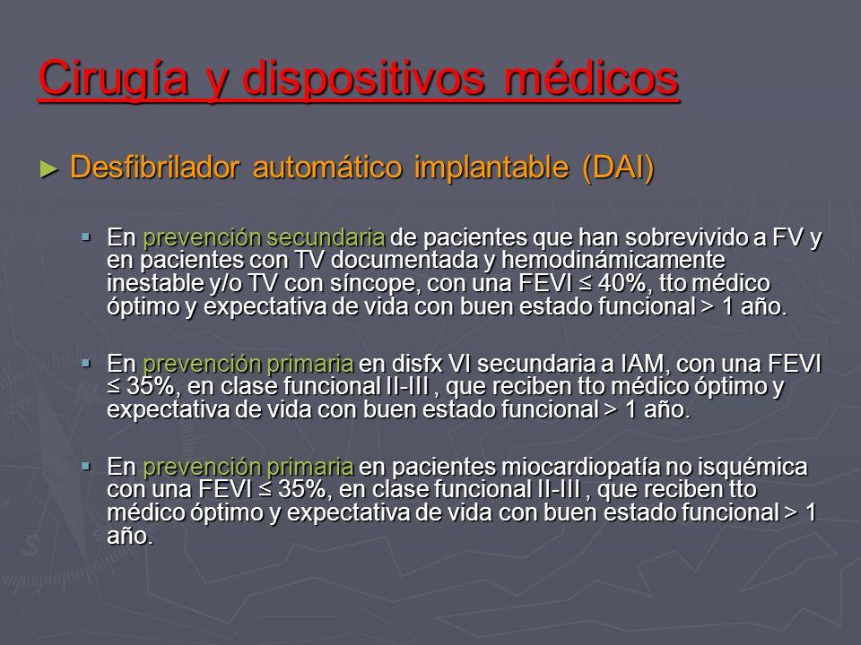 Cirugía y dispositivos médicos