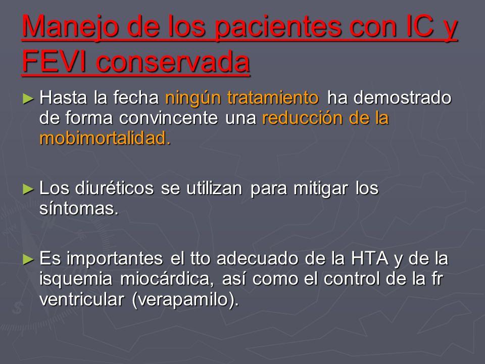 Manejo de los pacientes con IC y FEVI conservada