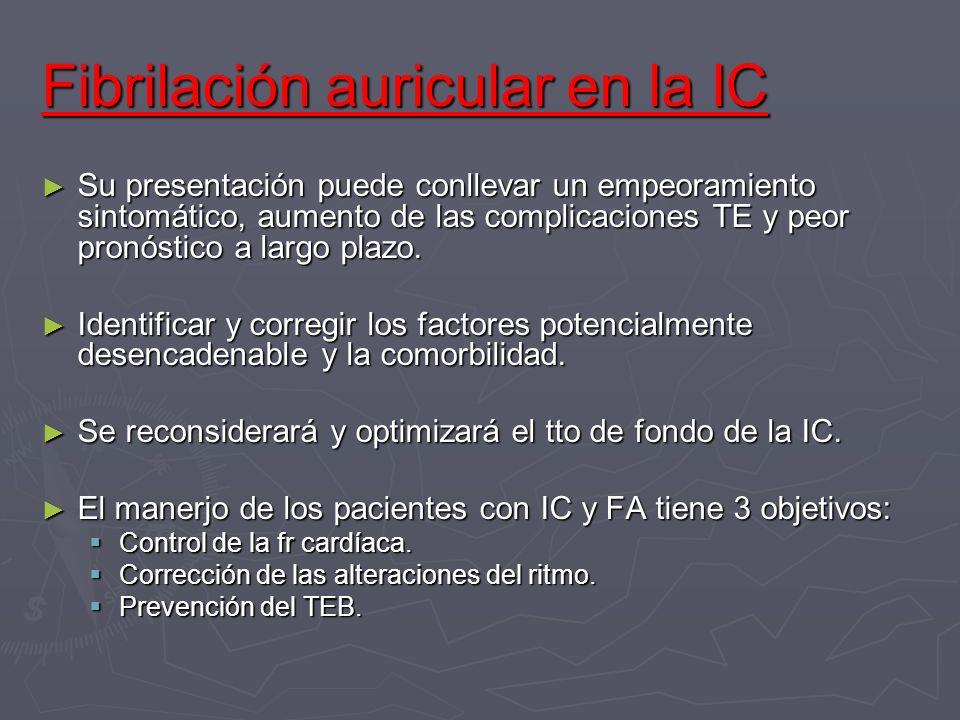 Fibrilación auricular en la IC