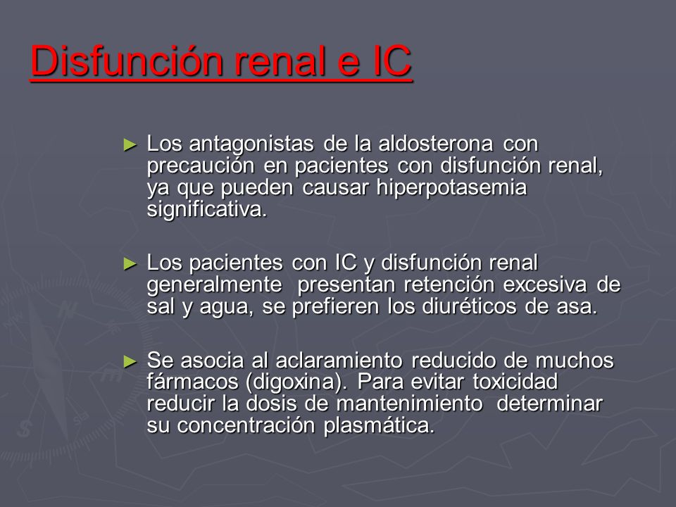 Disfunción renal e IC