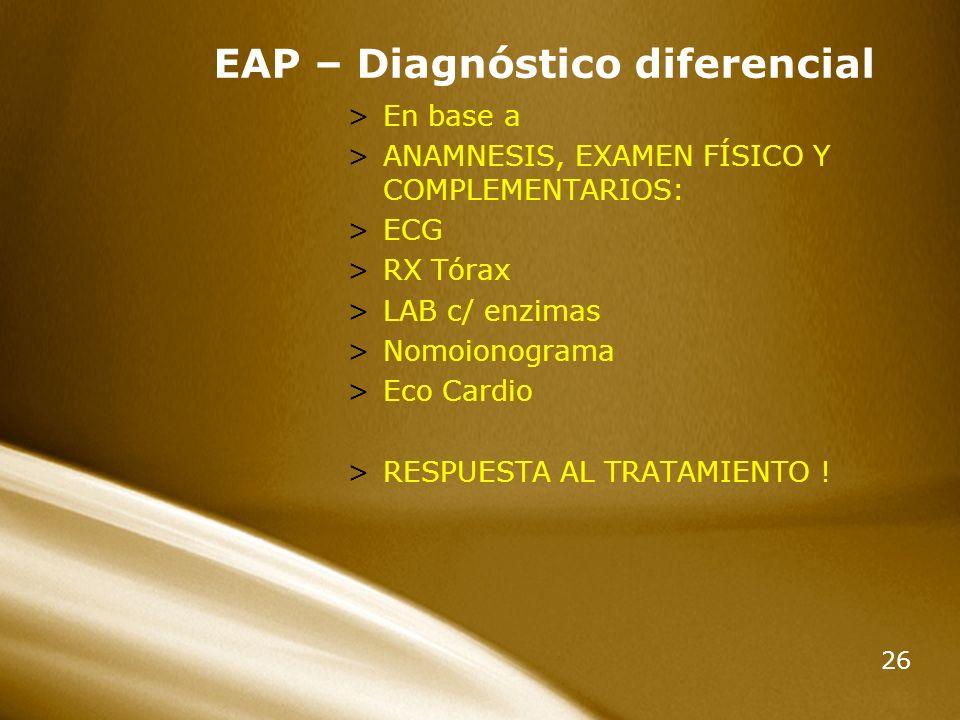 EAP – Diagnóstico diferencial