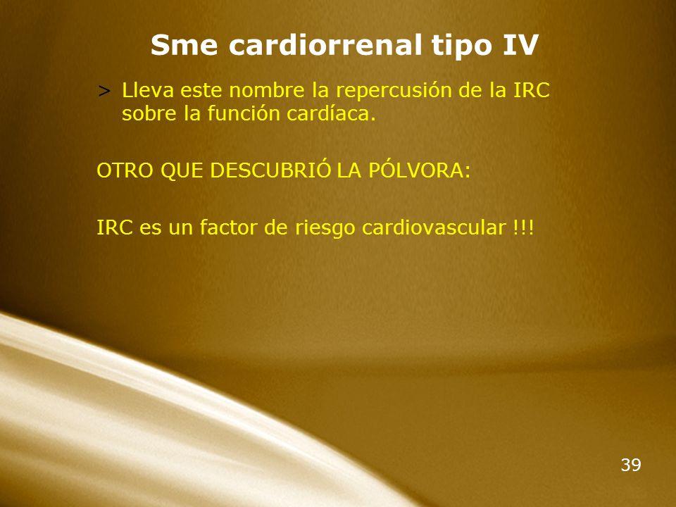 Sme cardiorrenal tipo IV
