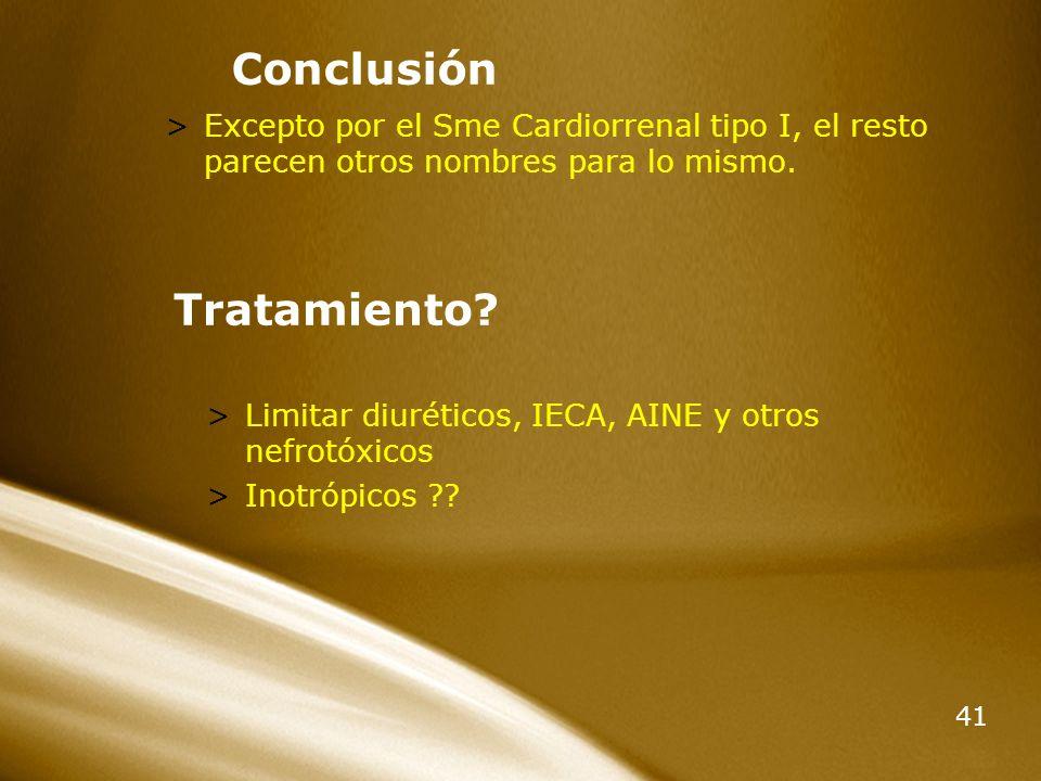 Conclusión Tratamiento