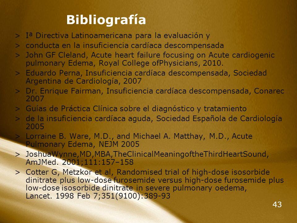 Bibliografía Iª Directiva Latinoamericana para la evaluación y