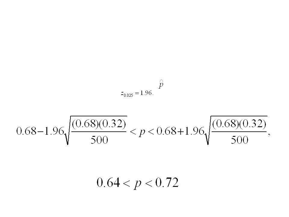 Ejemplo 7.10 En una muestra aleatoria de n = 500 familias que poseen televisiones
