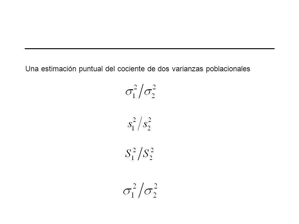 Estimación de la razón de dos varianzas