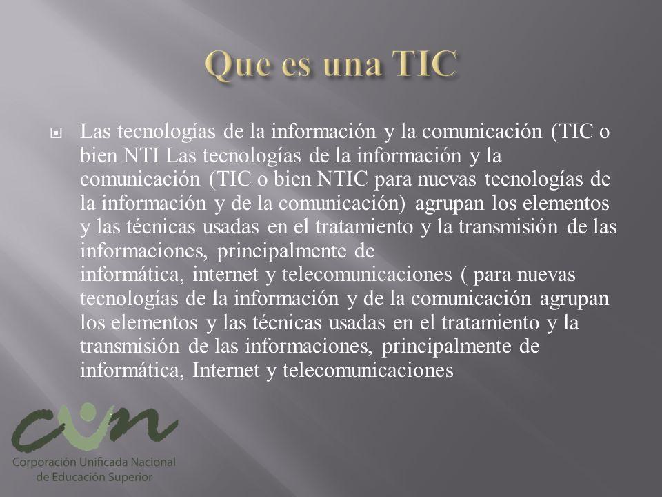 Que es una TIC