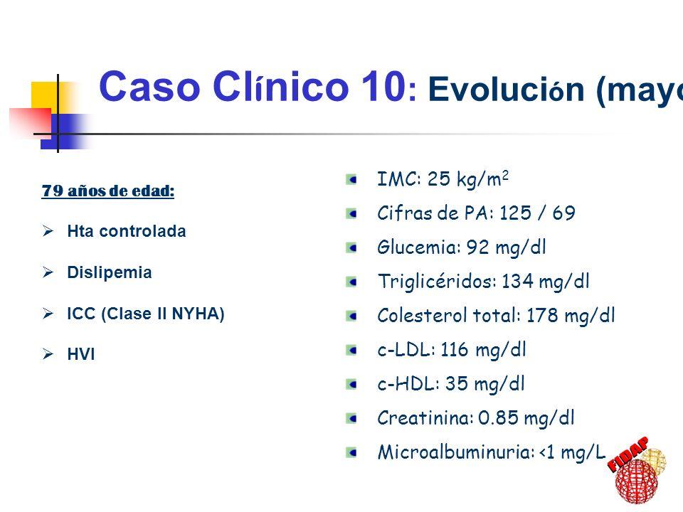 Caso Clínico 10: Evolución (mayo 2003)