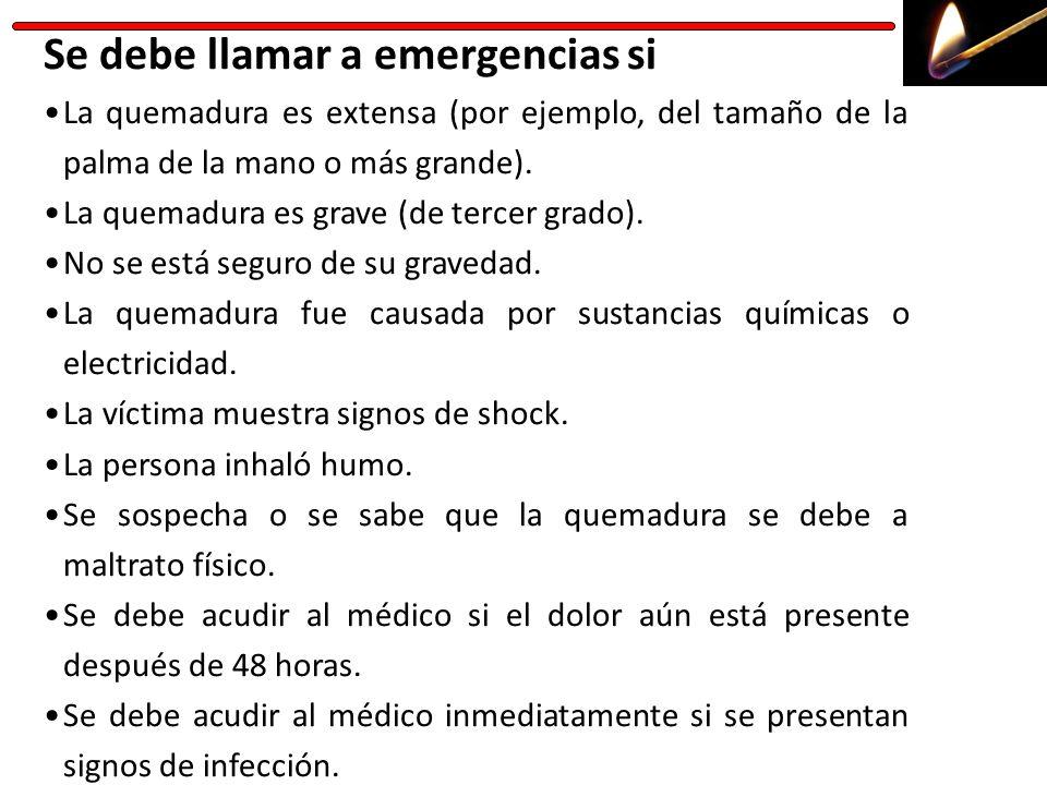 Se debe llamar a emergencias si