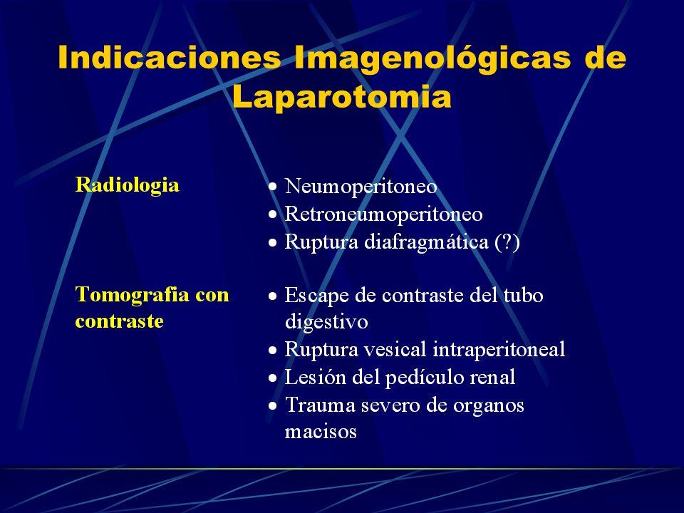 Indicaciones Imagenológicas de Laparotomia