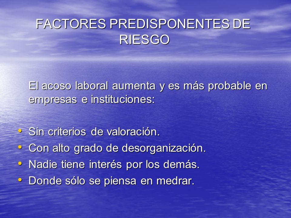 FACTORES PREDISPONENTES DE RIESGO