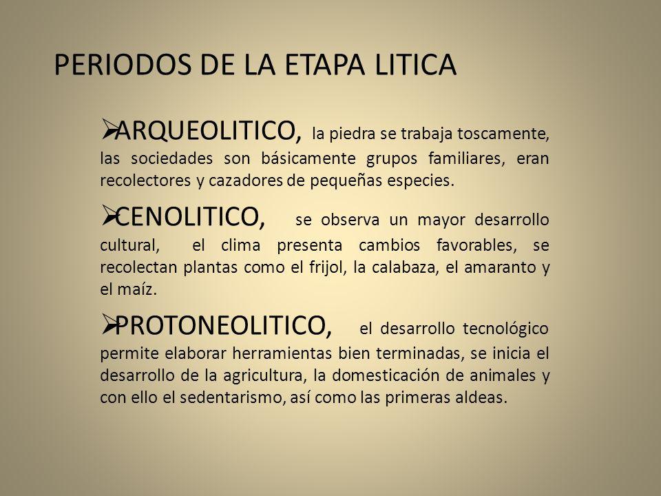 PERIODOS DE LA ETAPA LITICA