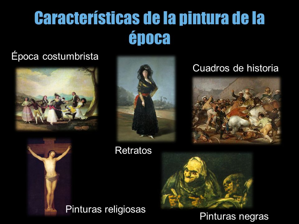 Características de la pintura de la época