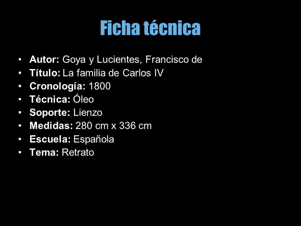 Ficha técnica Autor: Goya y Lucientes, Francisco de