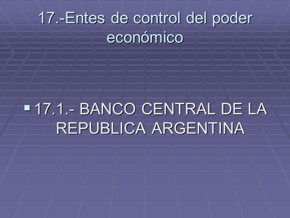 17.-Entes de control del poder económico