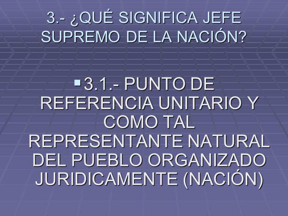 3.- ¿QUÉ SIGNIFICA JEFE SUPREMO DE LA NACIÓN