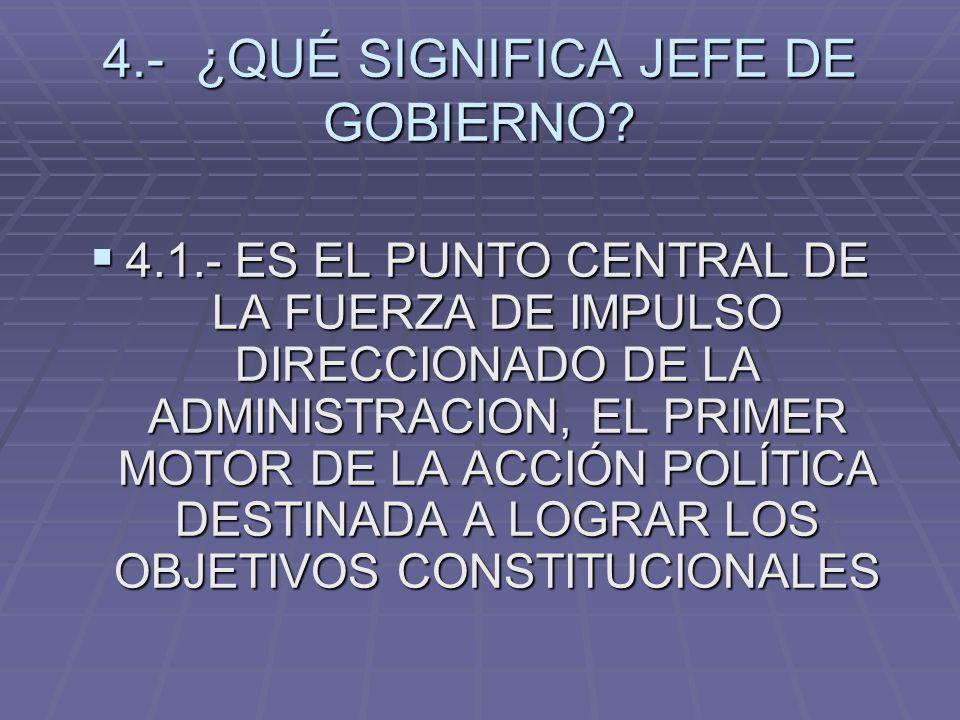 4.- ¿QUÉ SIGNIFICA JEFE DE GOBIERNO