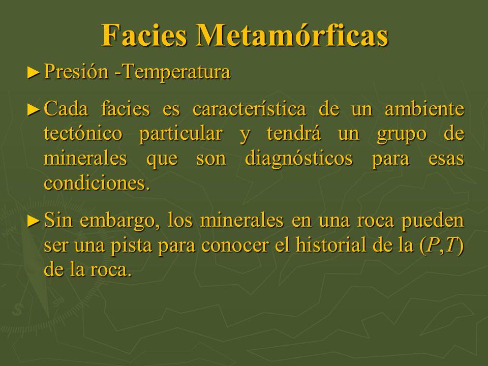 Facies Metamórficas Presión -Temperatura