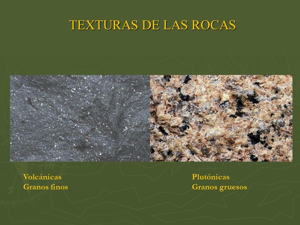 TEXTURAS DE LAS ROCAS Volcánicas Plutónicas