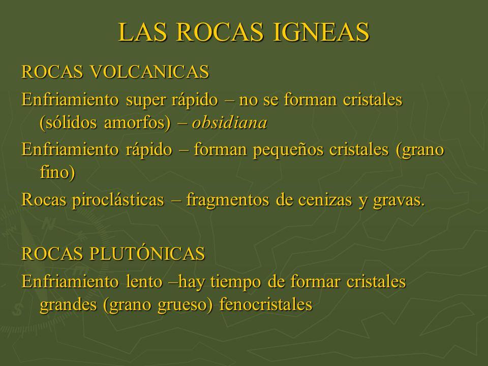 LAS ROCAS IGNEAS ROCAS VOLCANICAS