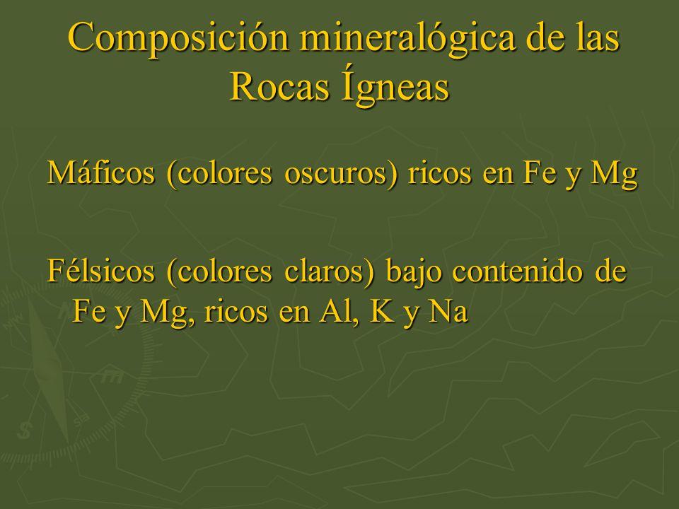 Composición mineralógica de las Rocas Ígneas