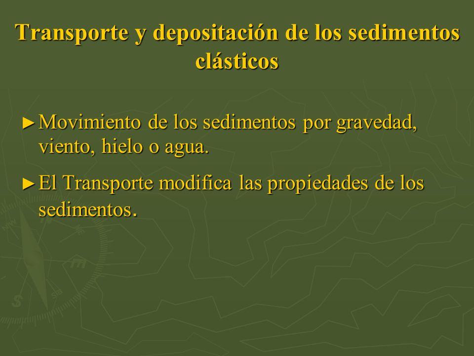 Transporte y depositación de los sedimentos clásticos