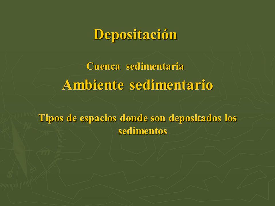 Depositación Cuenca sedimentaria