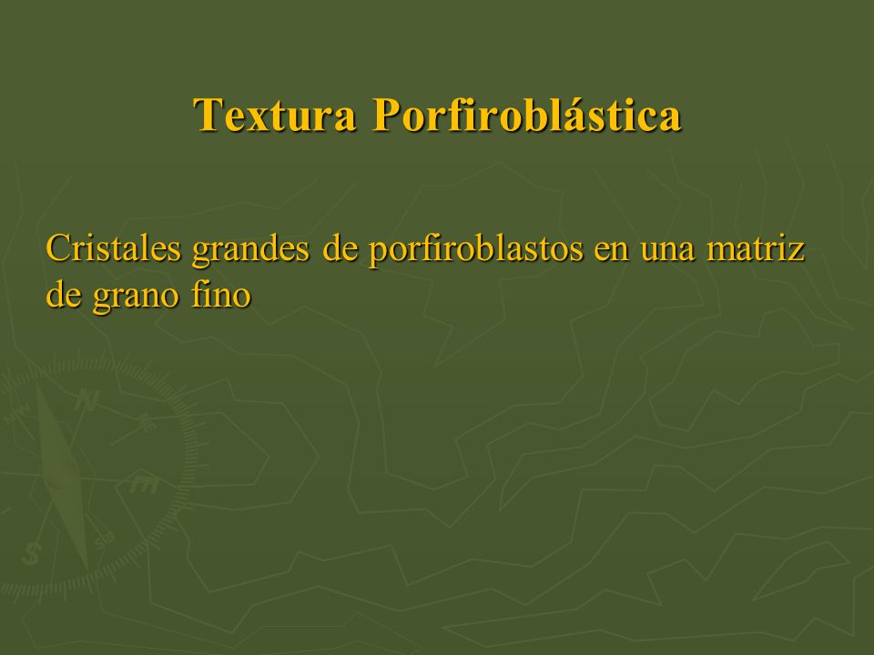 Textura Porfiroblástica
