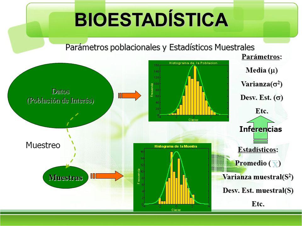 Parámetros poblacionales y Estadísticos Muestrales