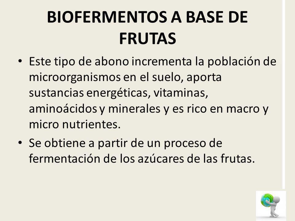 BIOFERMENTOS A BASE DE FRUTAS