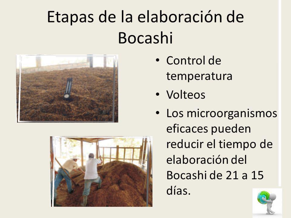 Etapas de la elaboración de Bocashi