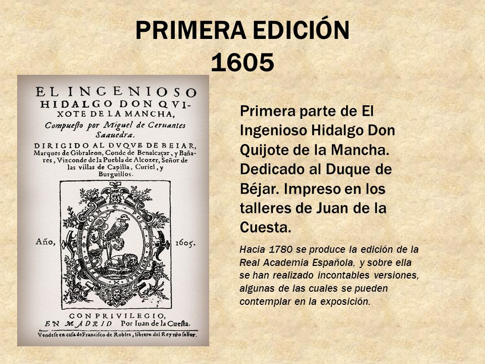 PRIMERA EDICIÓN 1605