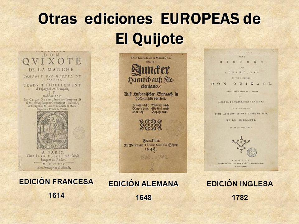 Otras ediciones EUROPEAS de El Quijote