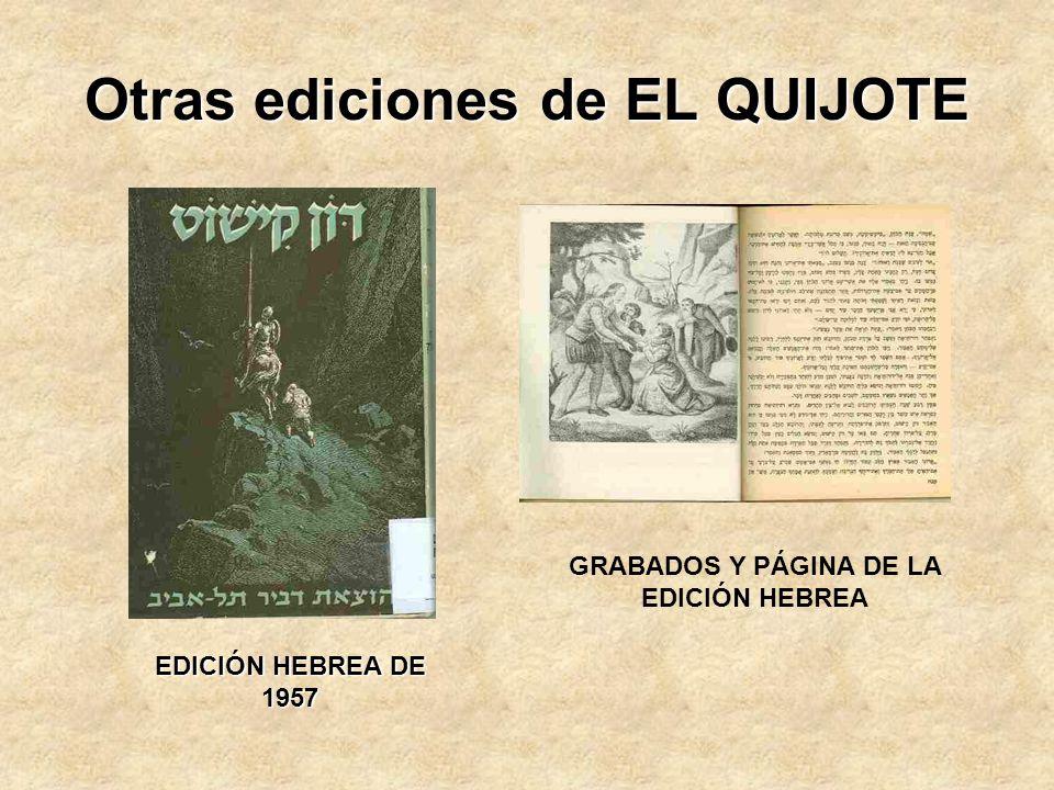 Otras ediciones de EL QUIJOTE