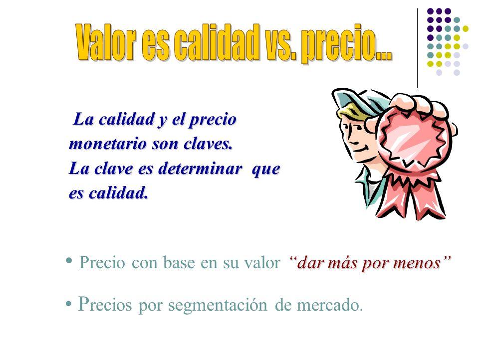 Valor es calidad vs. precio...