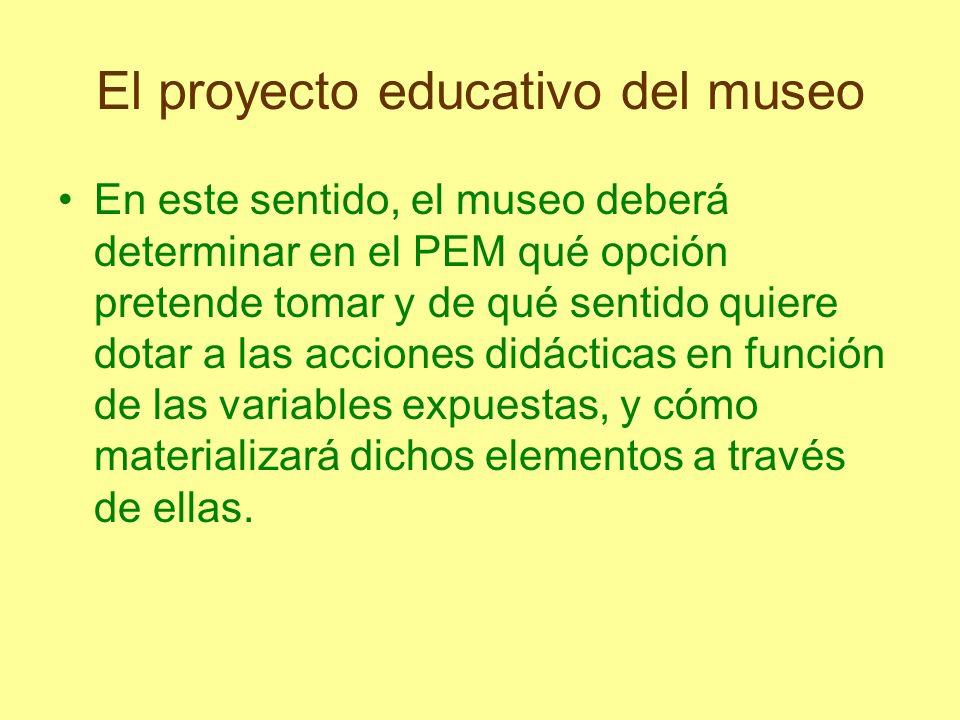 El proyecto educativo del museo