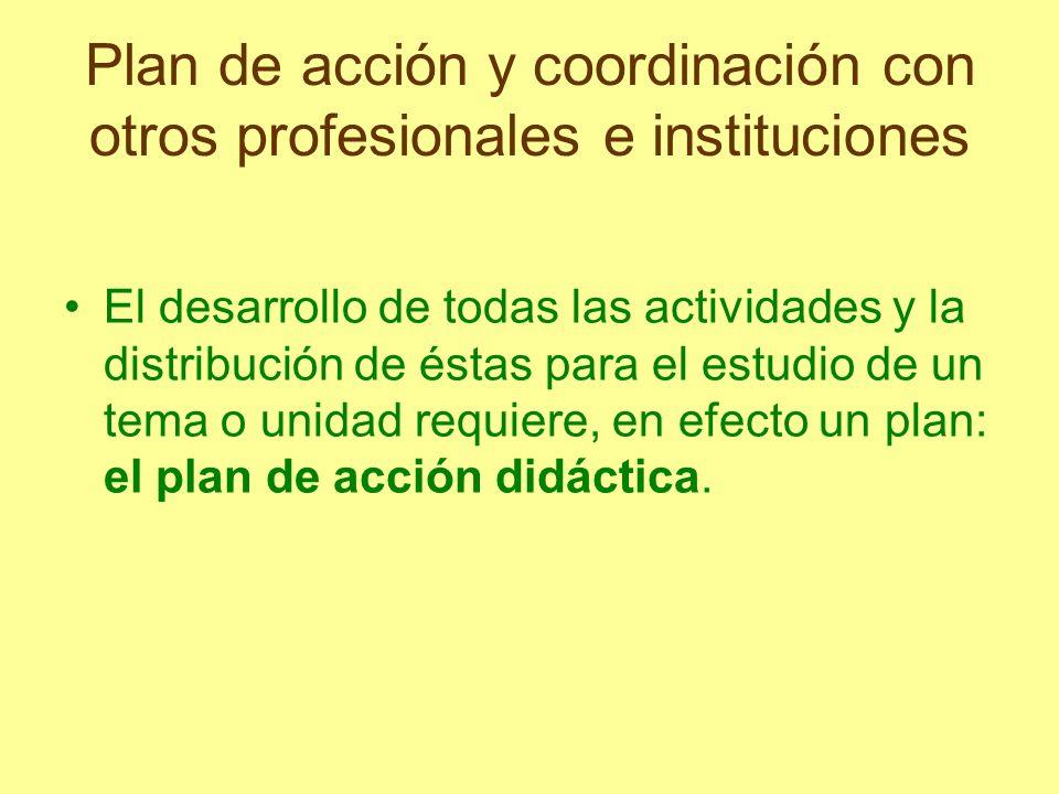 Plan de acción y coordinación con otros profesionales e instituciones
